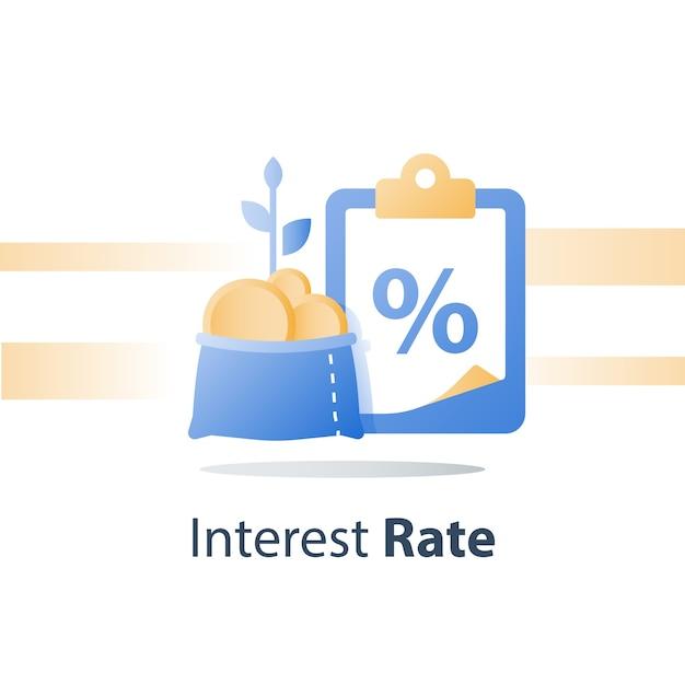 Empréstimo de dinheiro rápido Vetor Premium
