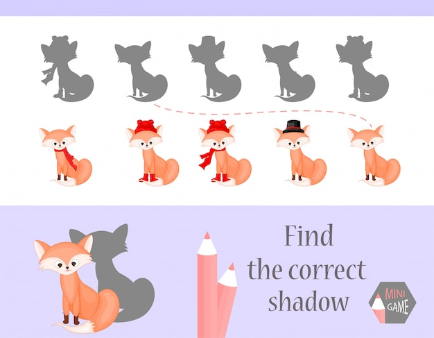 Encontre a sombra correta Vetor Premium