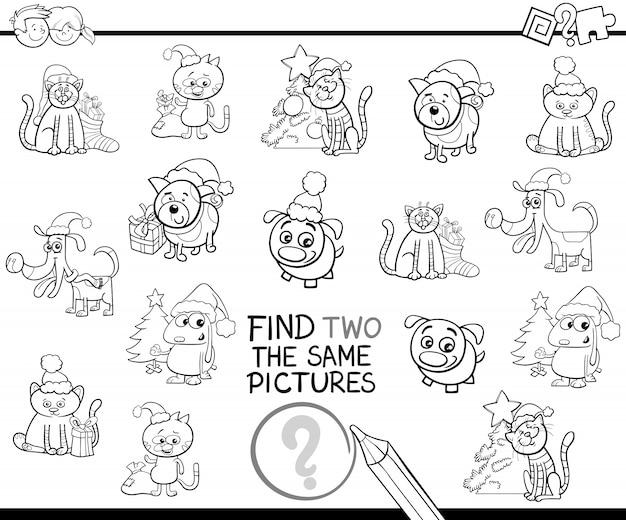 Encontre Itens Identicos Para Colorir Com Animais De Estimacao De