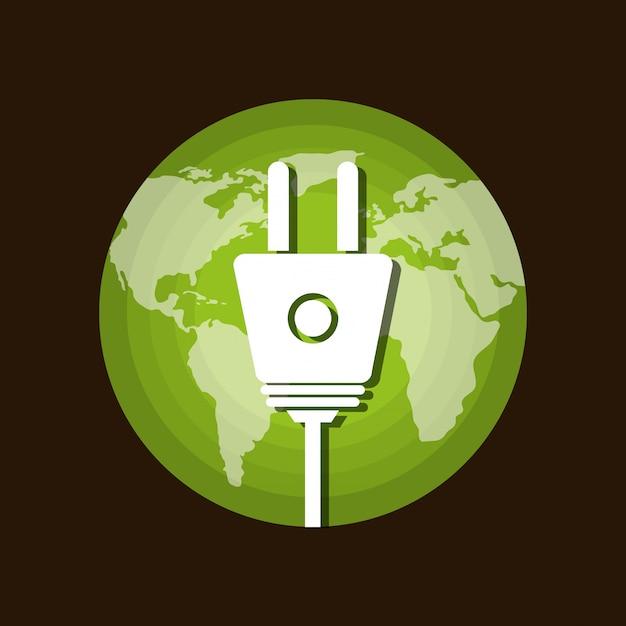Energia renovável Vetor grátis