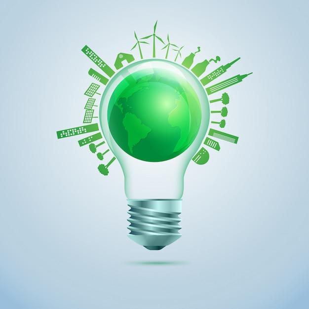 Energia verde Vetor Premium