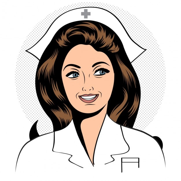 Enfermeira amigável e confiável bonita Vetor grátis