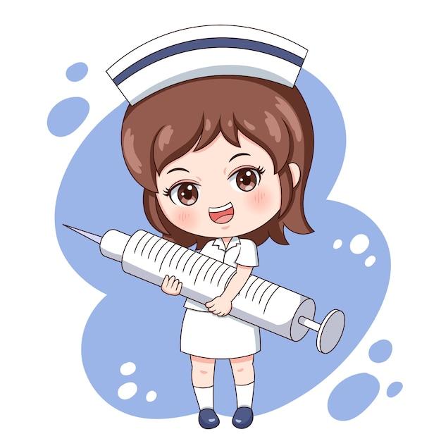 Enfermeira Vetor Premium
