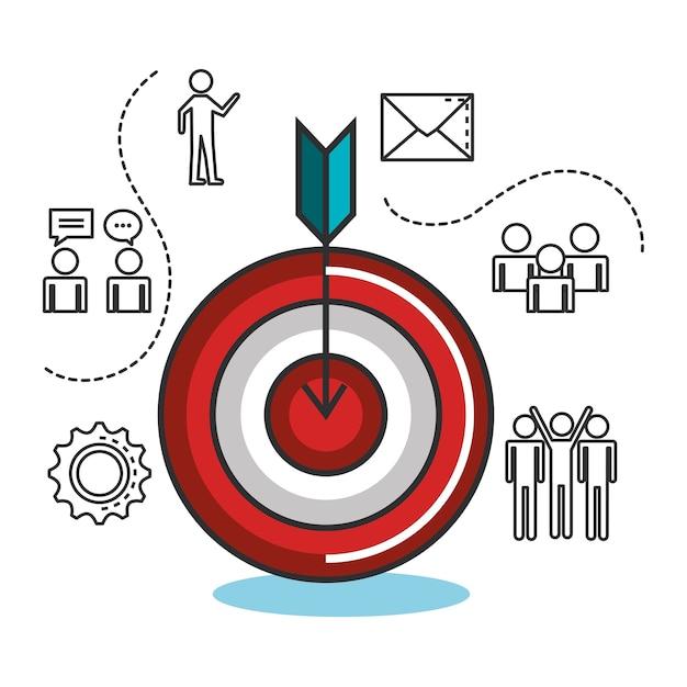 Engage ícones de conjunto de negócios Vetor Premium