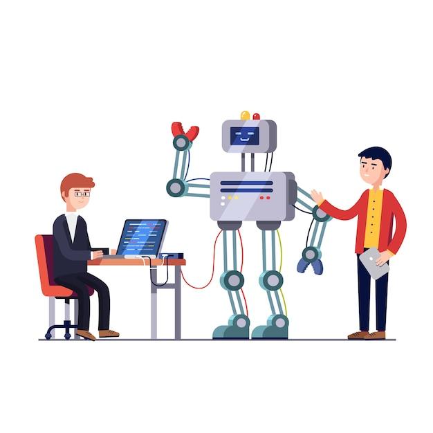 Engenharia de hardware e software robótica Vetor grátis