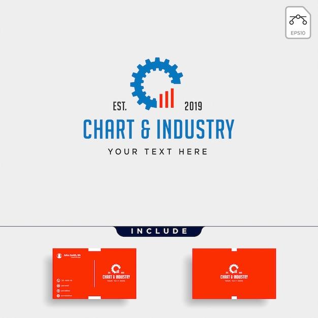 Engrenagem gráfico logotipo design industrial contabilidade vector ícone elemento isolado Vetor Premium