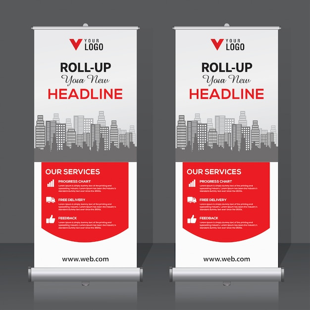 Enrole o modelo de banner Vetor Premium