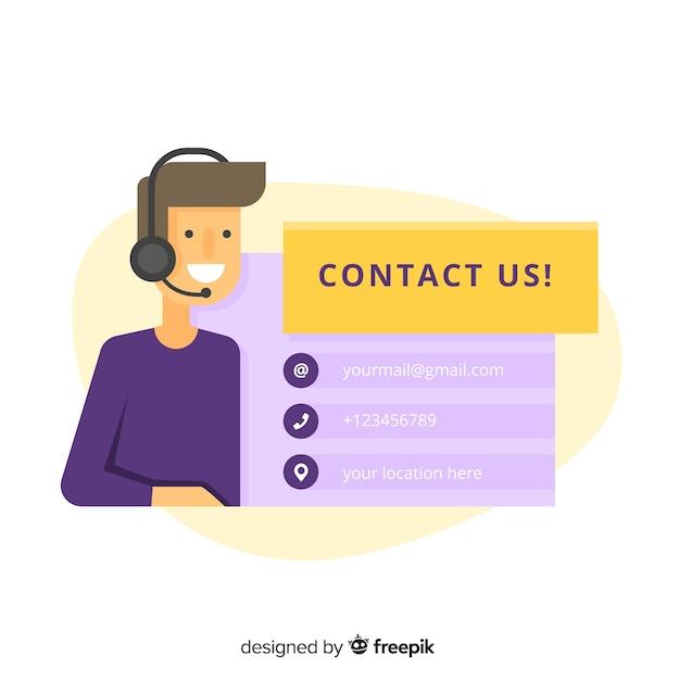 Entre em contato conosco plano de fundo design Vetor grátis