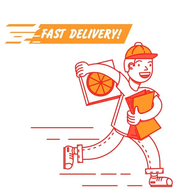 Entrega de fast food Vetor grátis