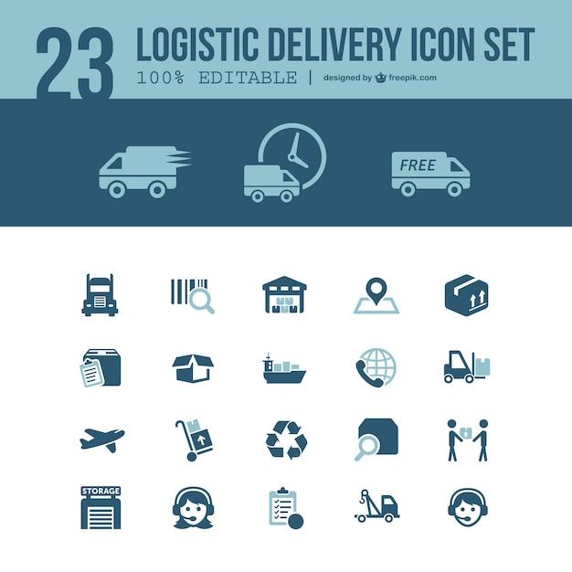 Entrega logística pacote gratuito Vetor grátis
