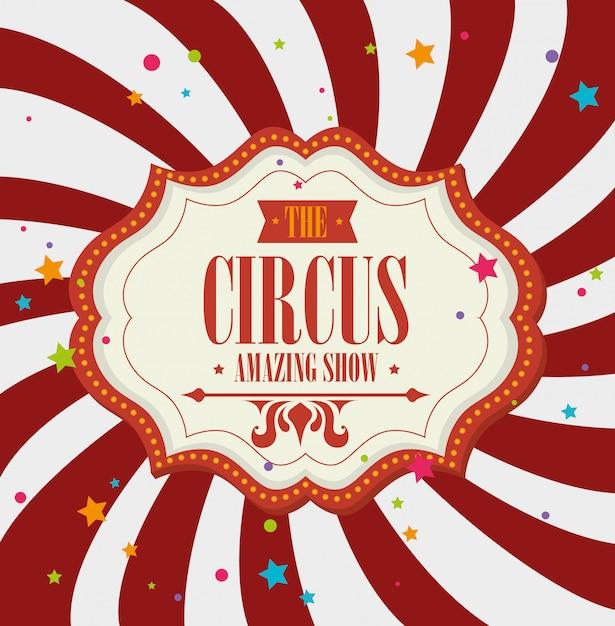 Entretenimento de carnaval de circo Vetor Premium