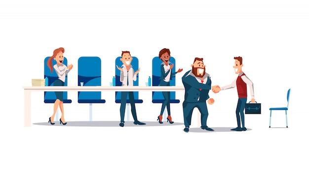 Entrevista de emprego e recrutamento Vetor Premium