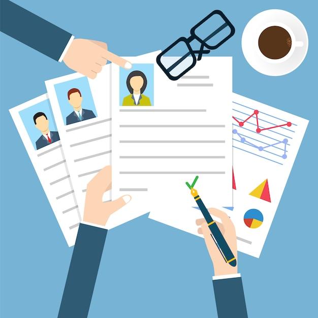 Entrevista de emprego Vetor Premium
