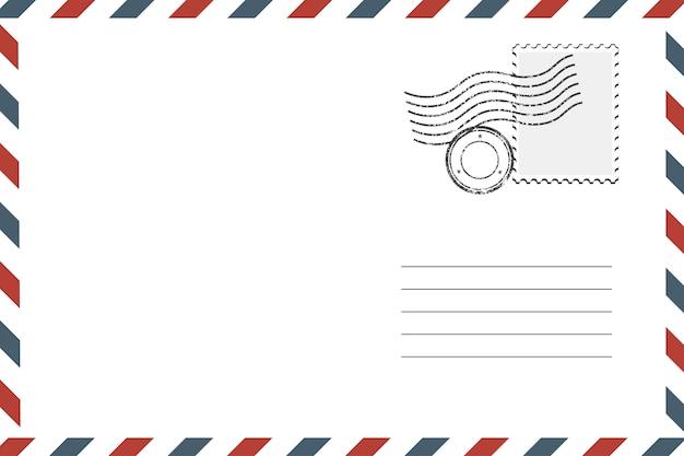 Envelope retrô de porte postal Vetor Premium