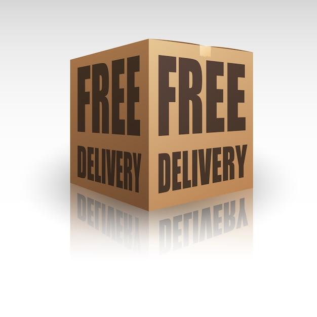 Envio gratuito de pacote de entrega Vetor Premium