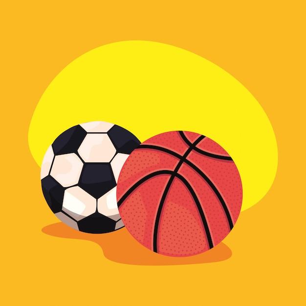 Equipamento de bolas esportivas Vetor Premium