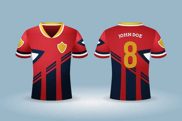 Equipamento de esporte de camisa de futebol Vetor grátis
