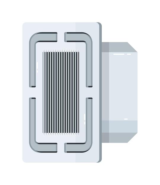 Equipamento elétrico de ar condicionado de cassete de teto Vetor Premium