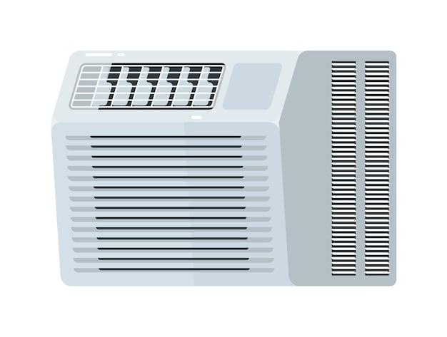 Equipamento elétrico de ar condicionado de janela Vetor Premium