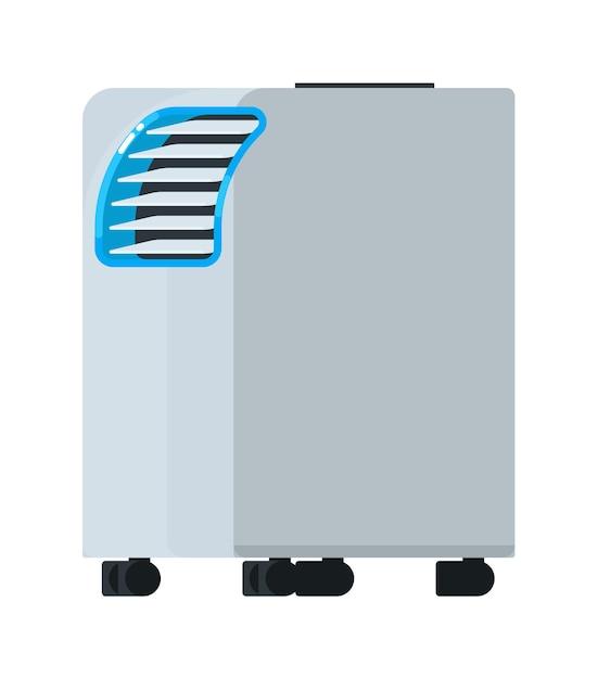 Equipamento portátil de ar condicionado Vetor Premium