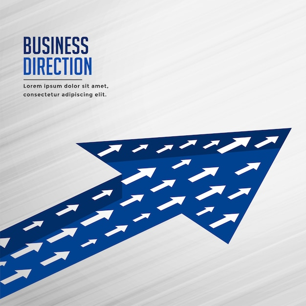 Equipe crescimento seta negócios plano de fundo Vetor grátis