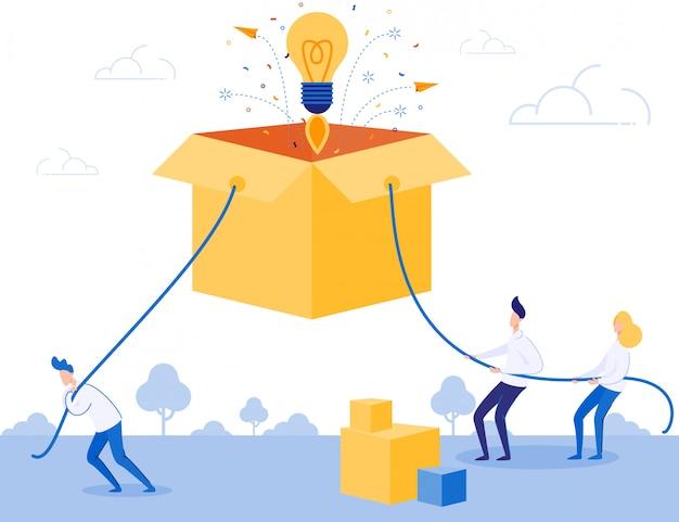 Equipe de negócios trabalhar duro na inicialização da idéia Vetor Premium