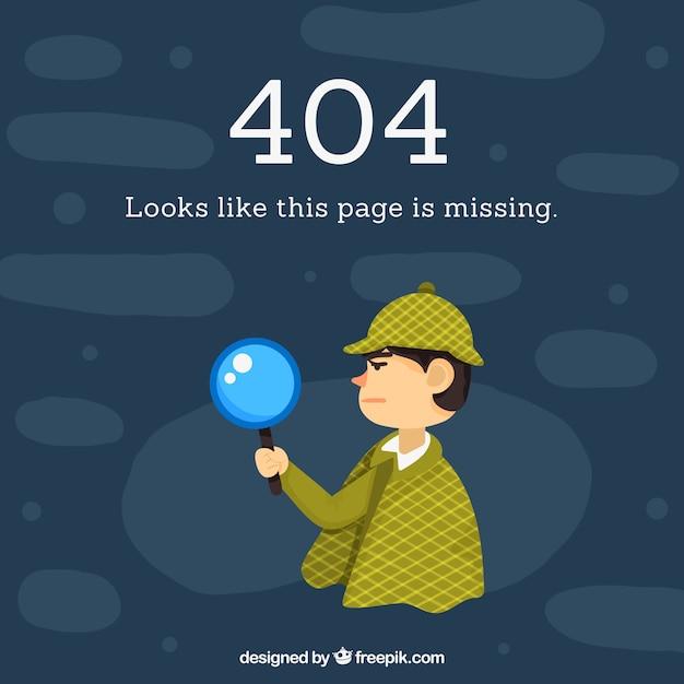Erro desenhado manualmente 404 Vetor Premium