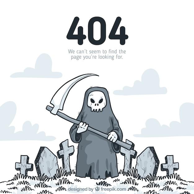 Erro desenhado manualmente 404 Vetor grátis