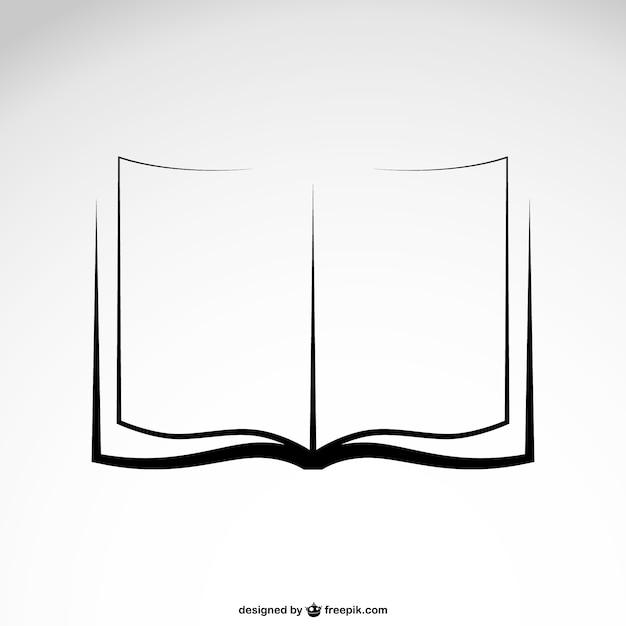 Esboço do livro Vetor grátis
