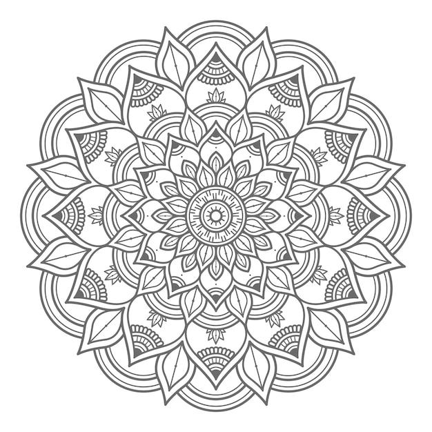 Esboço estilo abstrato e conceito decorativo ilustração da mandala Vetor Premium