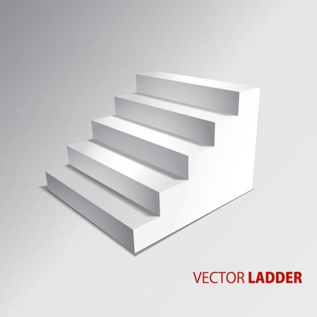 Escadas isoladas no fundo cinzento passos vetor Vetor grátis
