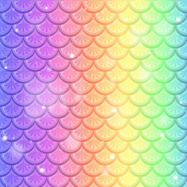 Escala de peixe arco-íris sem costura de fundo Vetor grátis