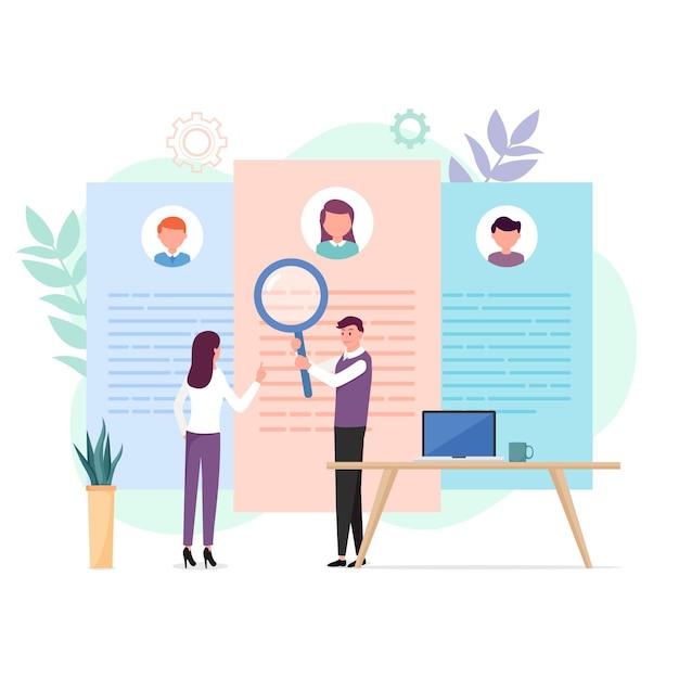 Escolha do conceito de trabalhador ilustrado Vetor grátis