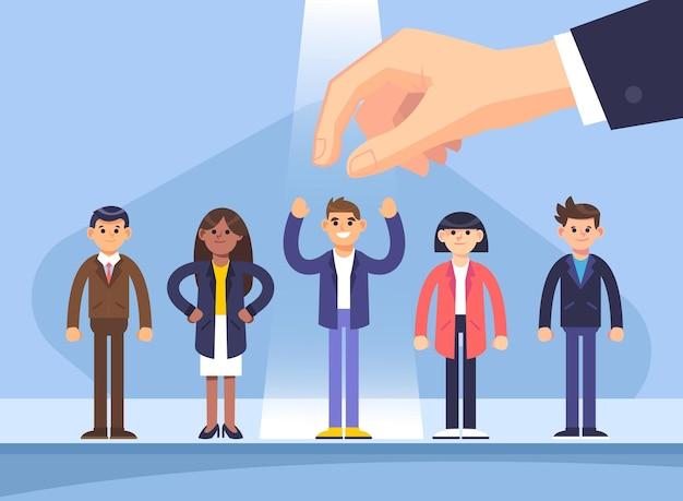 Escolha ilustrada do conceito de trabalhador Vetor grátis