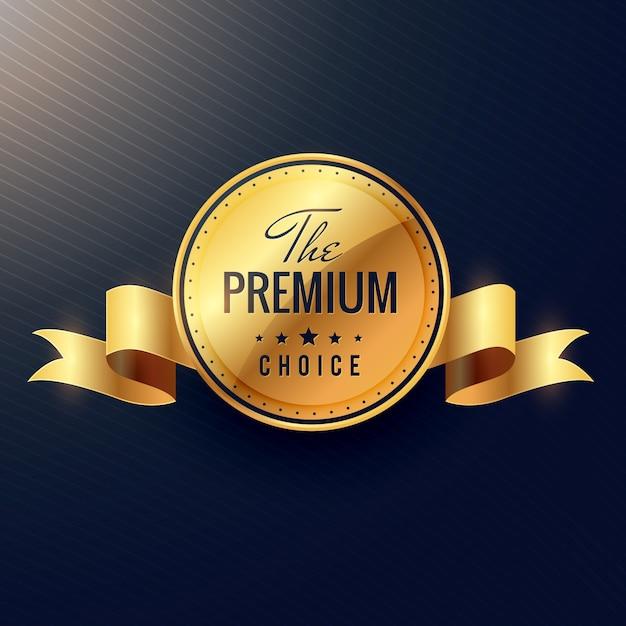 Escolha premium vetoriais etiqueta dourada design Vetor grátis