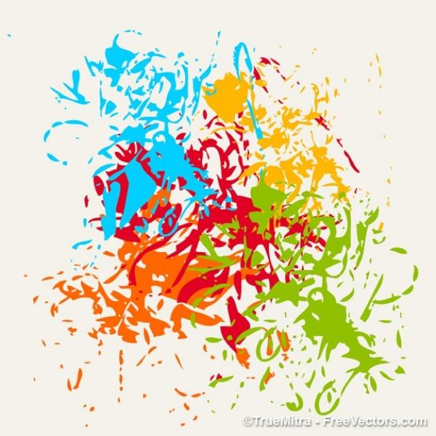 Escovas fundo respingo colorido Vetor grátis