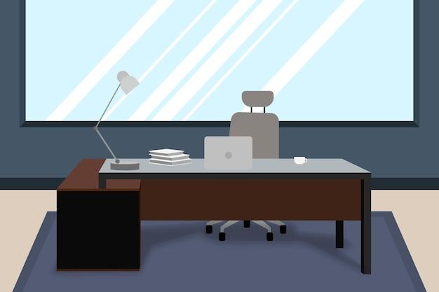 Escritório - plano de fundo para videoconferência Vetor grátis