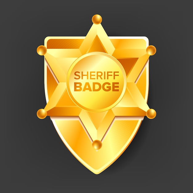 Escudo do xerife Vetor Premium