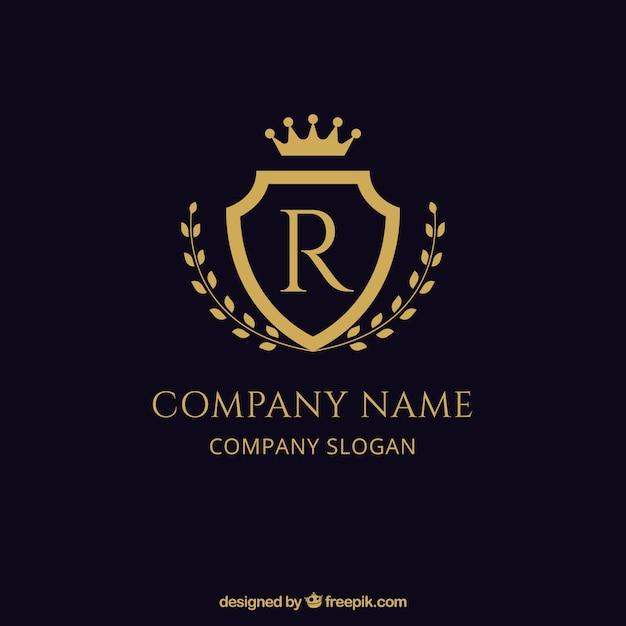 escudo elegante logotipo dourado baixar vetores gr225tis