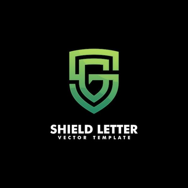 Escudo letra g conceito ilustração vetorial modelo Vetor Premium