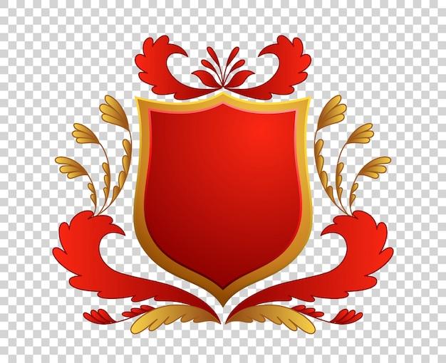 Escudo medieval. brasões. rei e reino. Vetor Premium