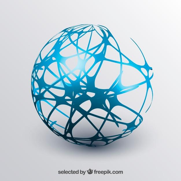 Esfera abstrata Vetor grátis