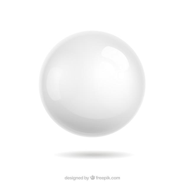 Esfera branco Vetor grátis