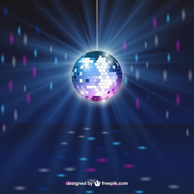 Esfera brilhante do disco Vetor Premium