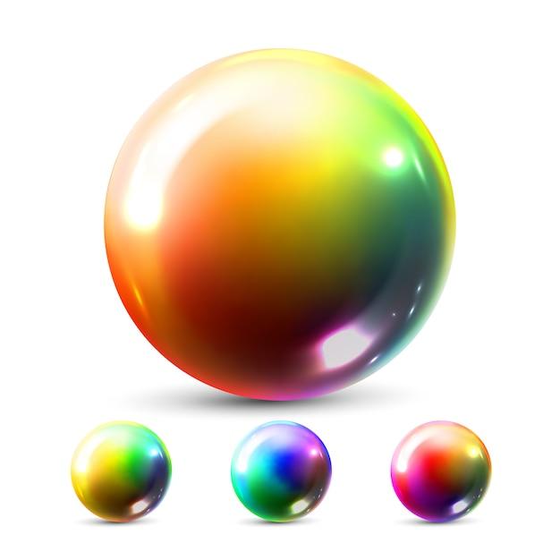 Esfera esfera Vetor Premium