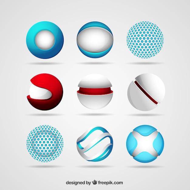 Esfera logos Vetor grátis