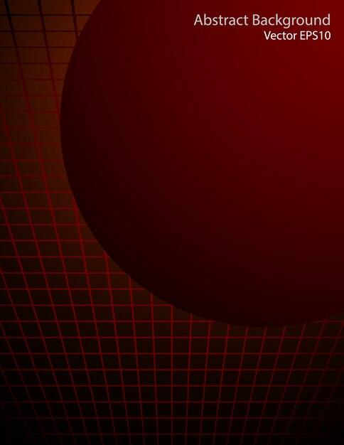 Esfera vermelha escura vector fundo Vetor Premium