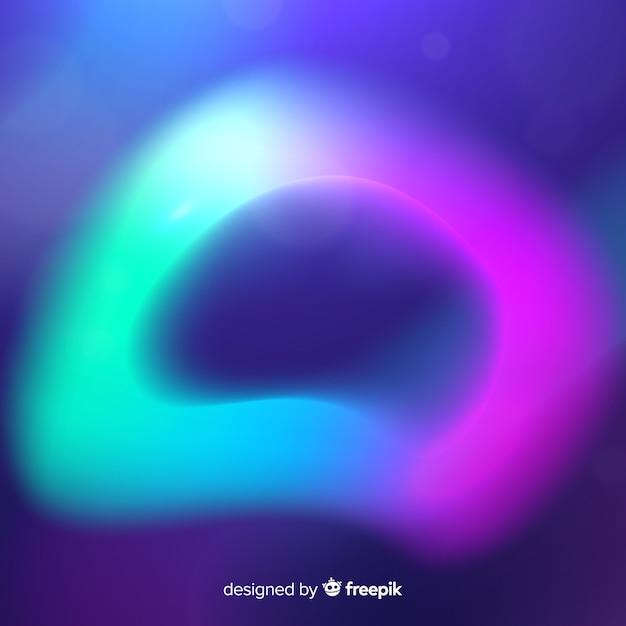 Esferas borradas do fundo das luzes do norte Vetor grátis