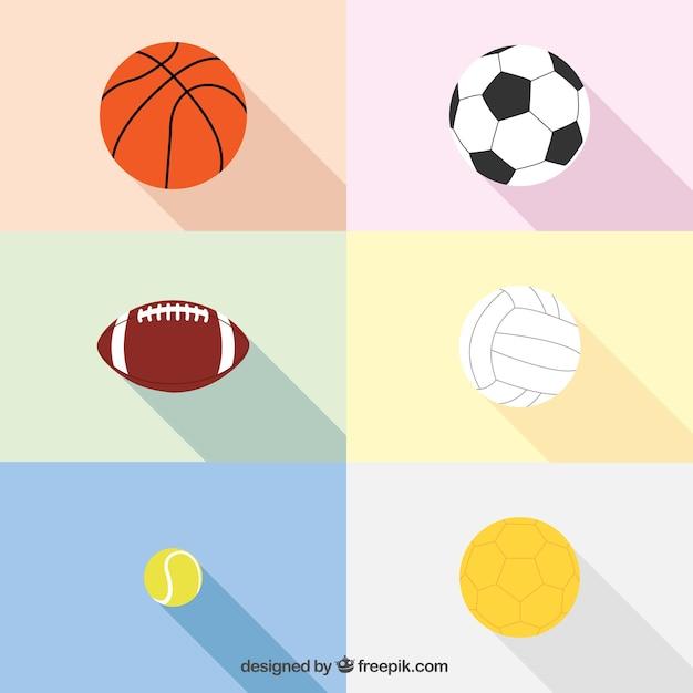Esferas do esporte Vetor grátis
