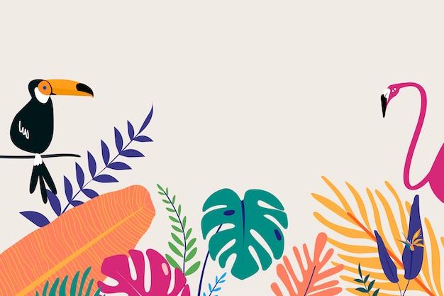Espaço de design tropical Vetor grátis